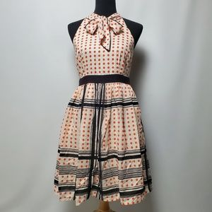 Maeve Polka Dots Halter Dress Size 8